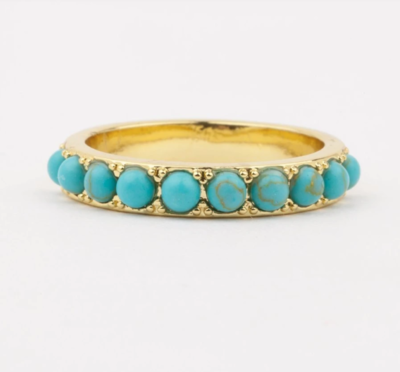 Isla Gold and Turquoise Ring