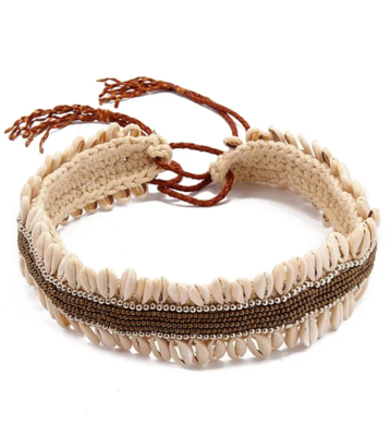 Braided Leather Shell Belt