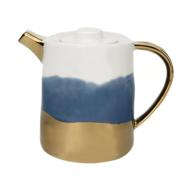 Ceramic Teapot with Gold Electroplating