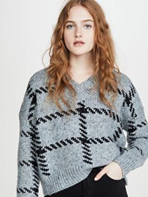 Michaela Plaid Sweater