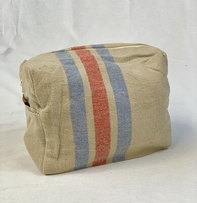 Striped Cotton Toiletry Bag