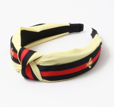 Striped Bee Headband