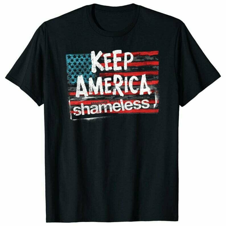 White Shameless TV Show T-Shirt Gray or Red Soft Cotton Tee. Black