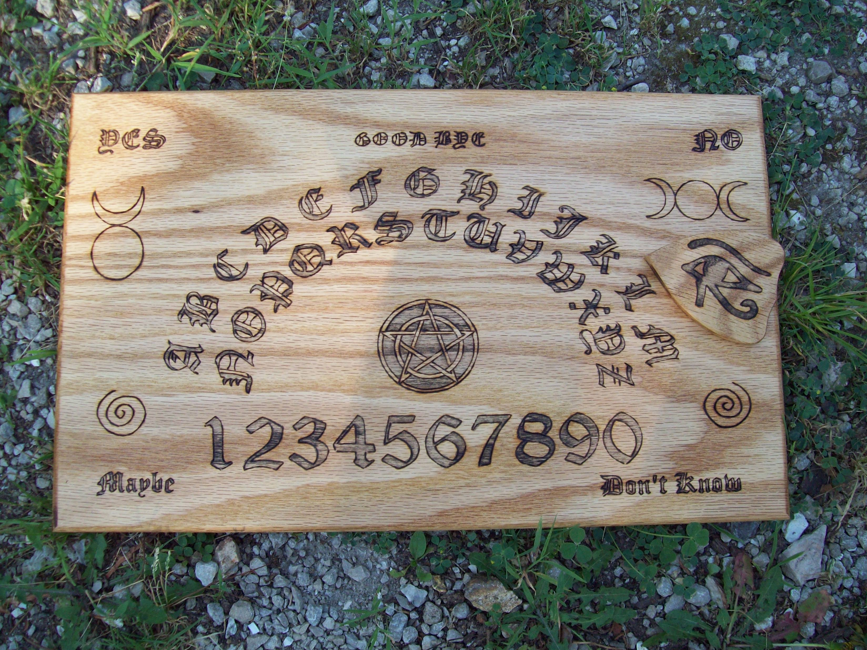 Witches wiccan witch board wiccan ouija board on oak buycottarizona Gallery