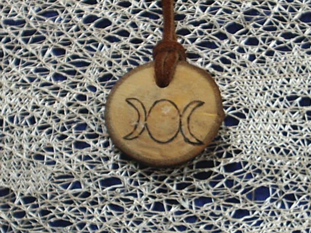 God And Goddess Spirituality Tribal Wood Necklace