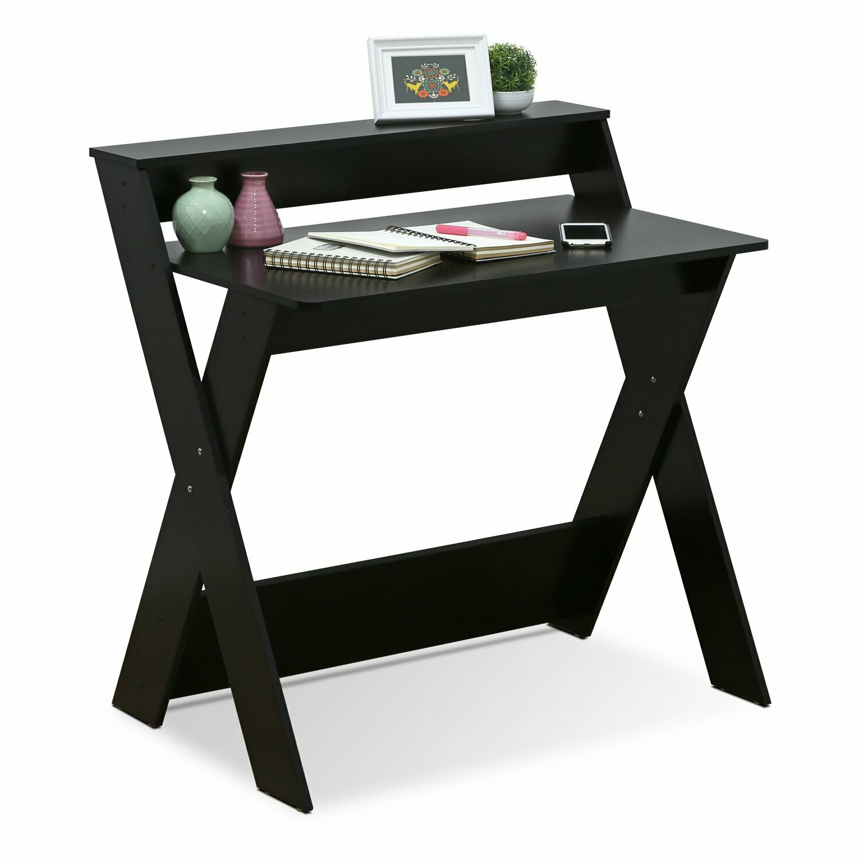 Furinno Modern Simplistic Criss-Crossed Home Office Study Desk, Espresso