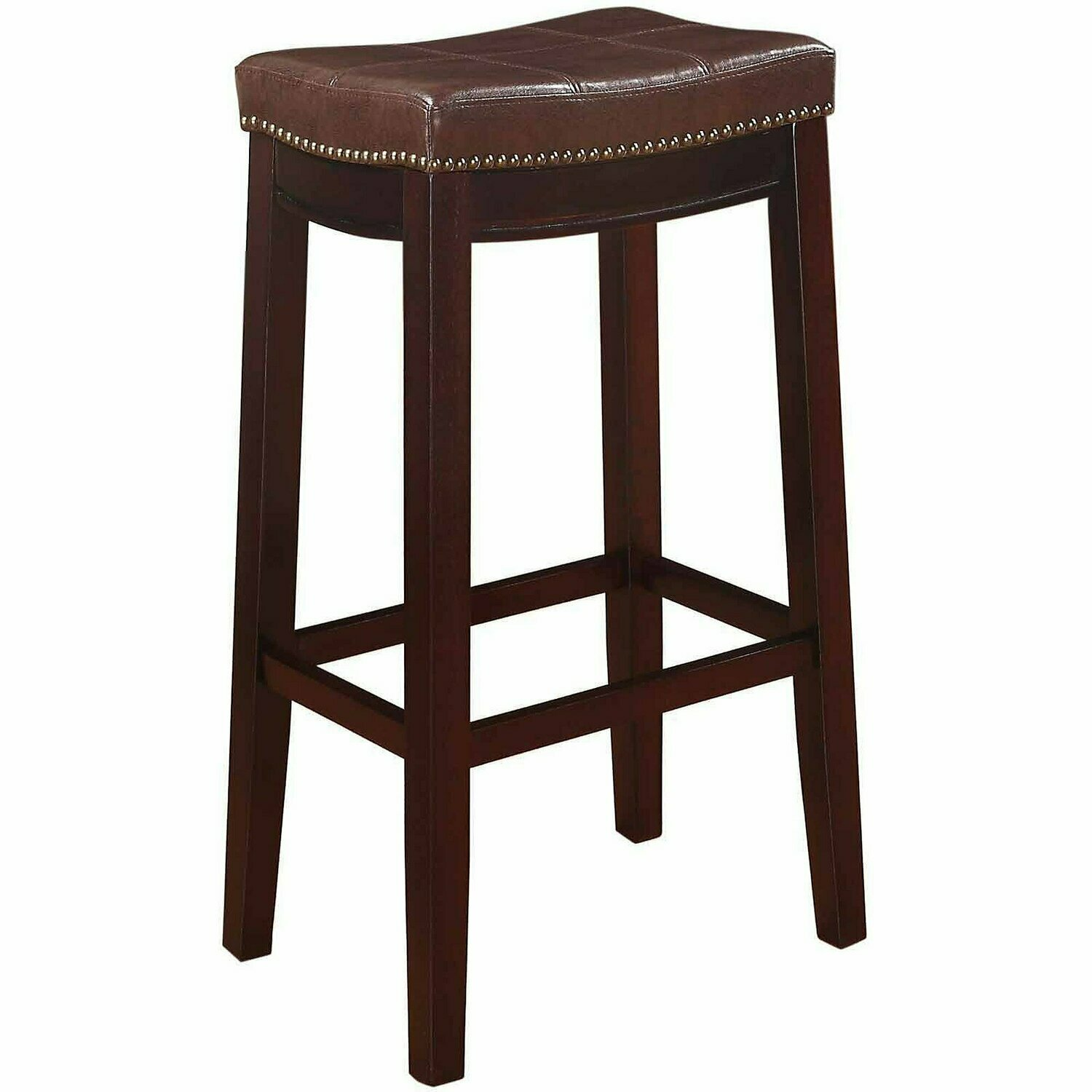 Bar Stool, 32 inch Seat Height, Brown