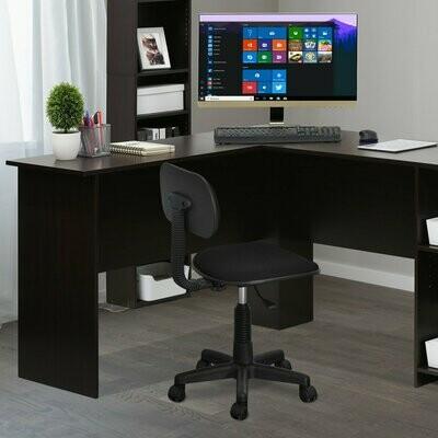 Low-Back Nylon Base Swivel Chair, Black