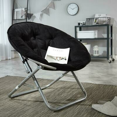 Mainstays Large Microsuede Saucer Chair, Black
