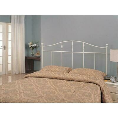 Full/Queen Metal Headboard White