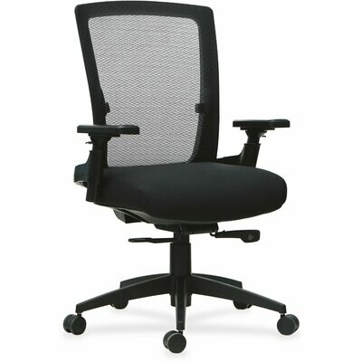 Lorell, 3D Rotation Armrests Mid-back Chair, 1 Each, Black