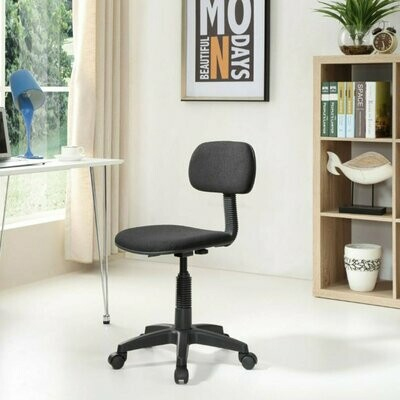 Armless Office Chair in Black
