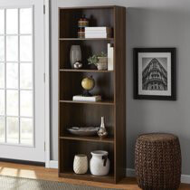"Mainstays 71"" 5 Shelf Bookcase, Canyon Walnut"