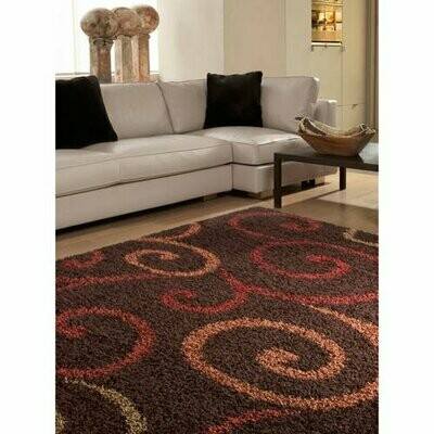 5' x 7' Better Homes and Gardens Swirls Soft Shag Area Rug