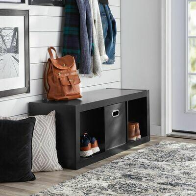 Better Homes & Gardens 3-Cube Storage Organizer, Black