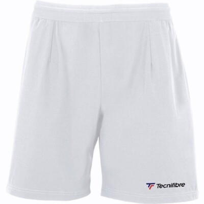 Tennis Sommerhose, Tecnifibre Stretch Short, weiss
