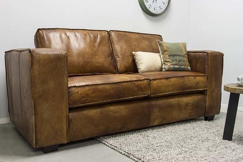 ecksofa vintage leder. Black Bedroom Furniture Sets. Home Design Ideas