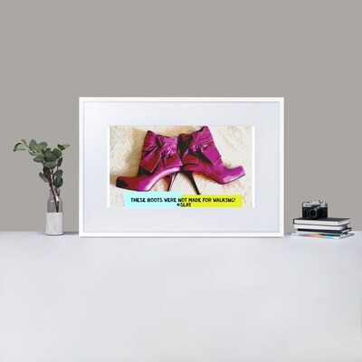 Framed Poster- Quirky Fashion Print- On Matte Paper