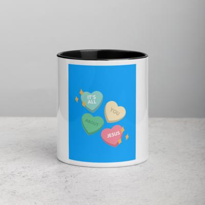 Love Hearts Jesus Accent Tea Coffee Mug Cup 11oz