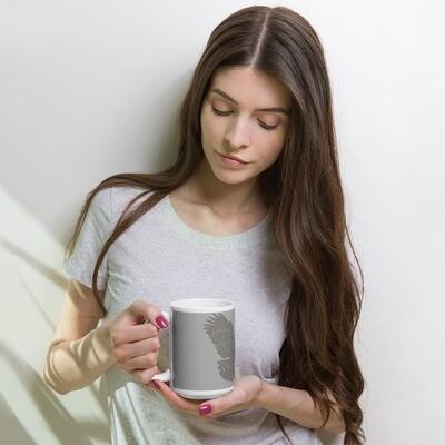 Flying Eagle White & Grey Coffee Tea Mug