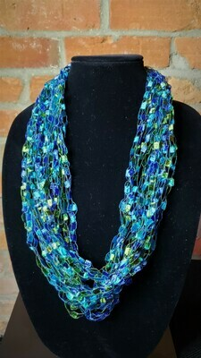 Caribbean Ladder Yarn Necklace
