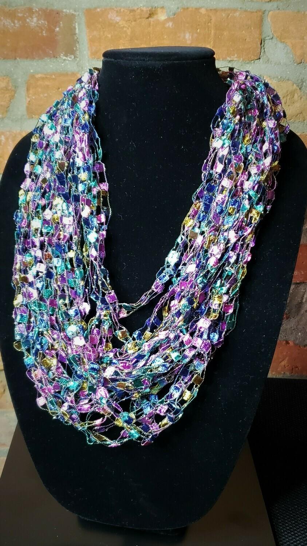 Kensington Sparkle Yarn Necklace