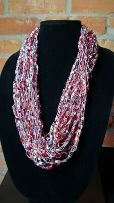 OSU Ladder Yarn Necklace