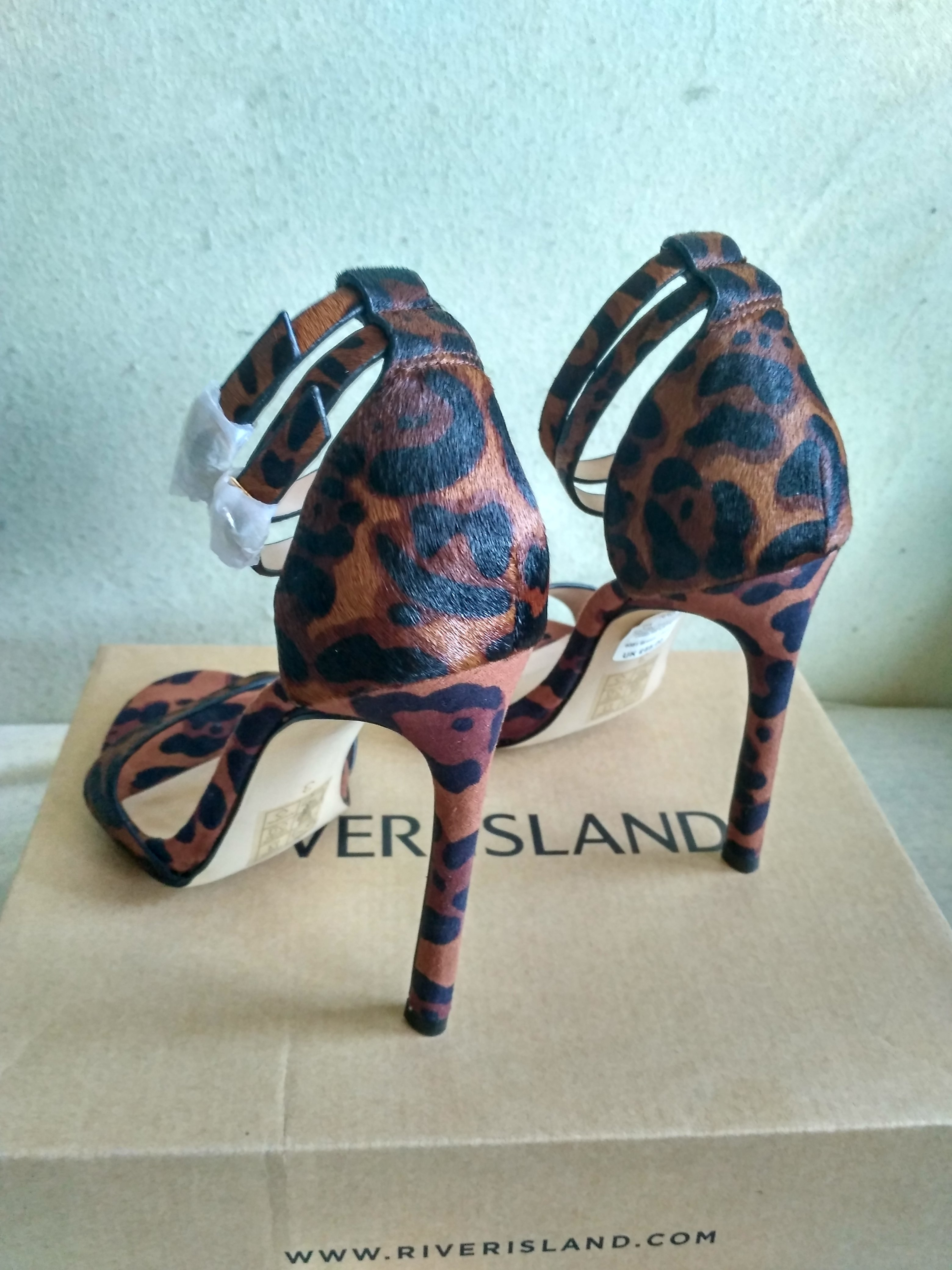 Pantofi toc River Island Leopard Print