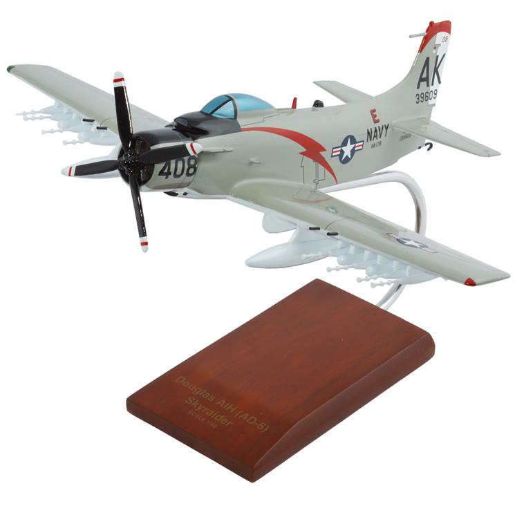 A1H Skyraider USN Model Airplane