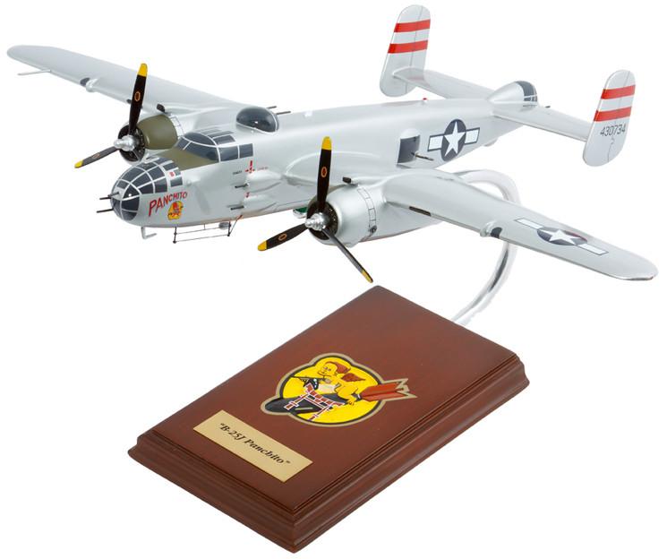 """B-25 Mitchell """"Panchito"""" 1/41 Wood Model Aircraft"""