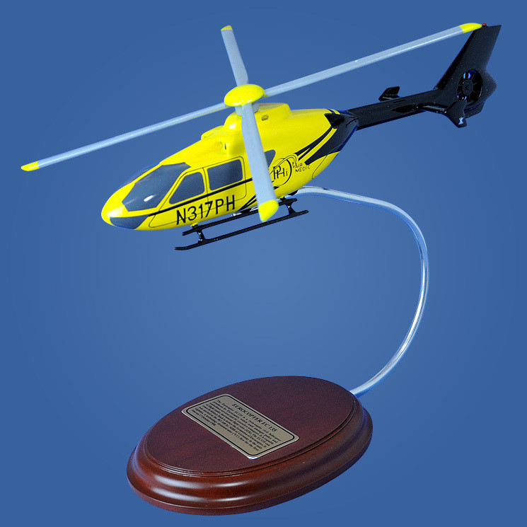 Eurocopter EC 135 Wood Model Helicopter