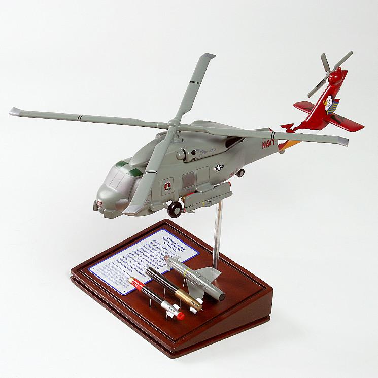 SH-60B Seahawk Desktop Model Helicopter w/ AGM-119B Penguin, MK. 50 Advanced Lightweight Torpedo, Mk