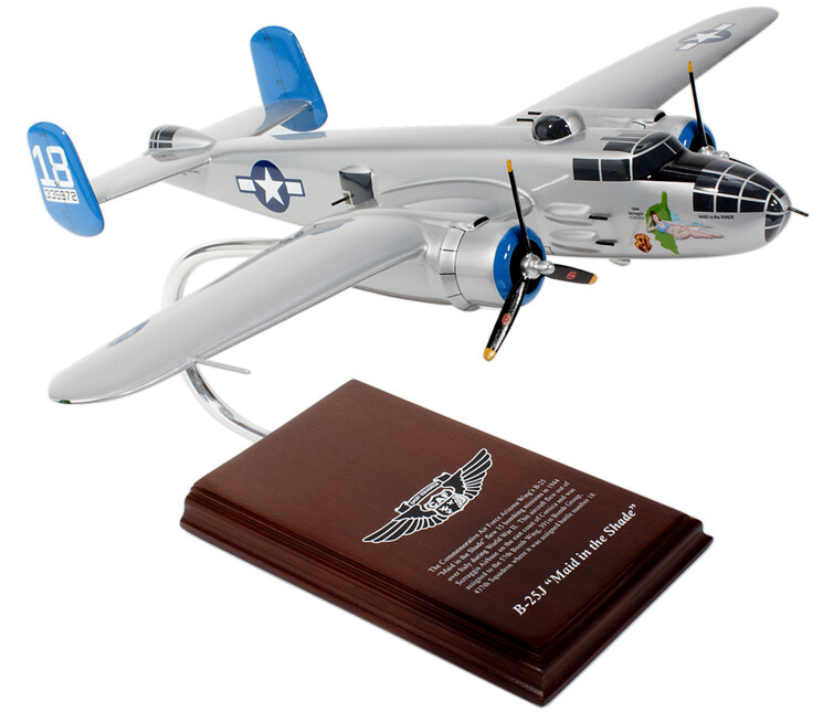 B-25 Mitchell (Maid in the Shade) 1/41 Wood Model Aircraft