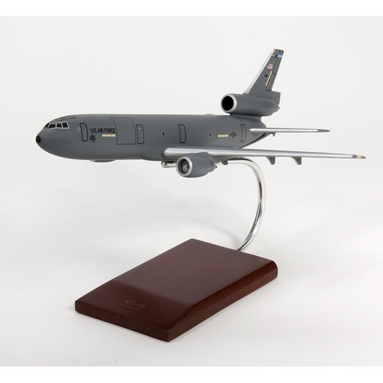 KC-10A Extender Gray Model Airplane