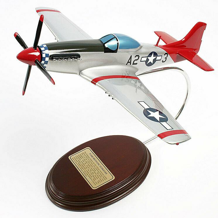 P-51D Mustang Tuskeegee Propeller Model Plane
