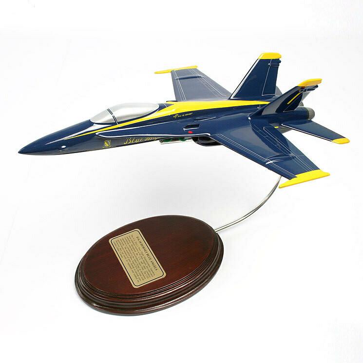 McDonnell Douglas F-18C Hornet (Blue Angels) 1/56 Desktop Model Aircraft