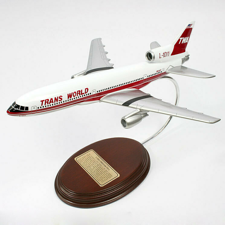 Lockheed L-1011 TriStar TWA 1/177 Desktop Model Airplane