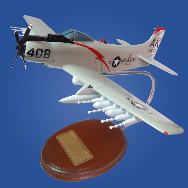 A-1H Skyraider USN Desktop Model Aircraft