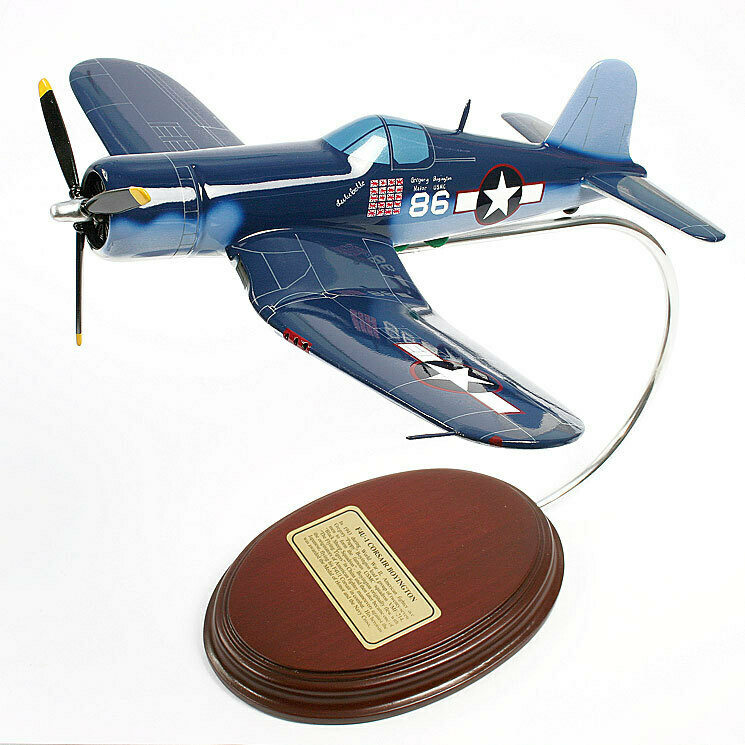 "Vought F4U1 Corsair ""Pappy Boyington"" 1/41 Desktop Model Aircraft"