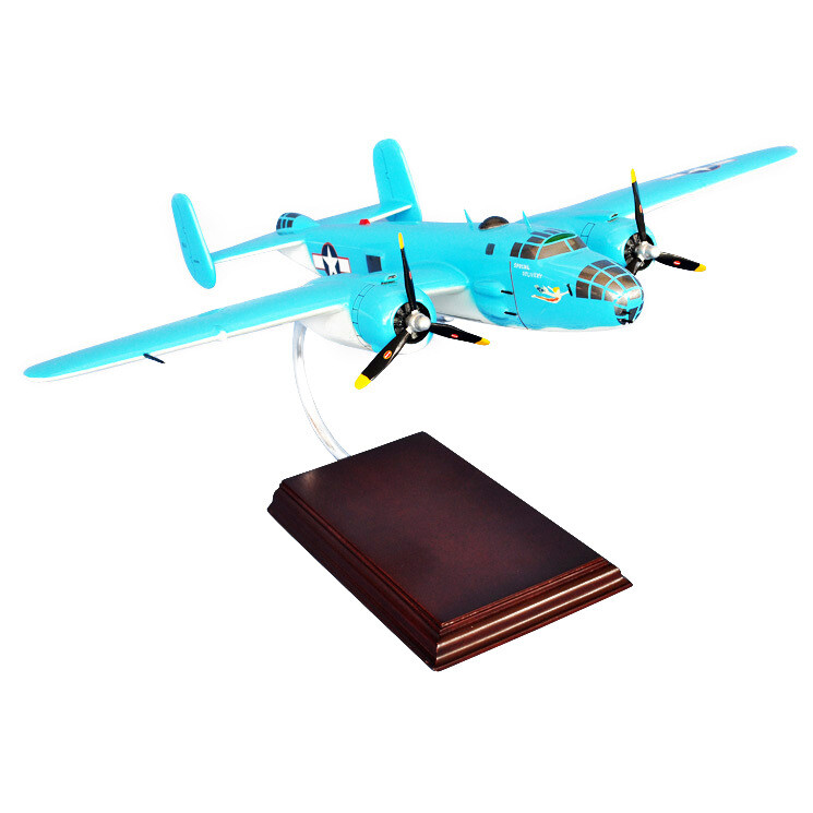 """B-25 """"Special Delivery"""" Wood Model Aircraft"""