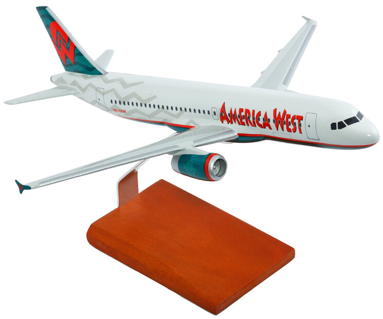 A320 America West 1/100 Model Airplane