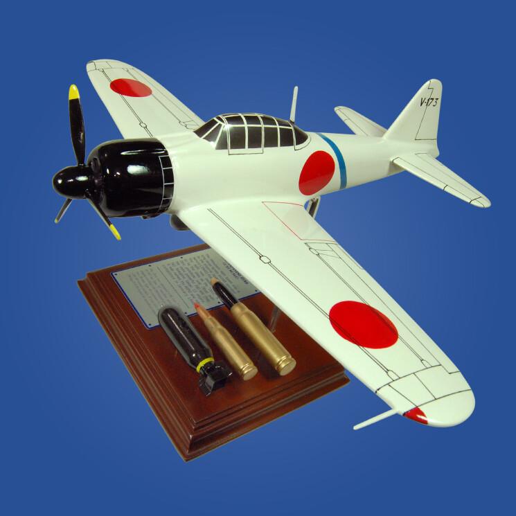 A6M2 Zero Wood Model Plane