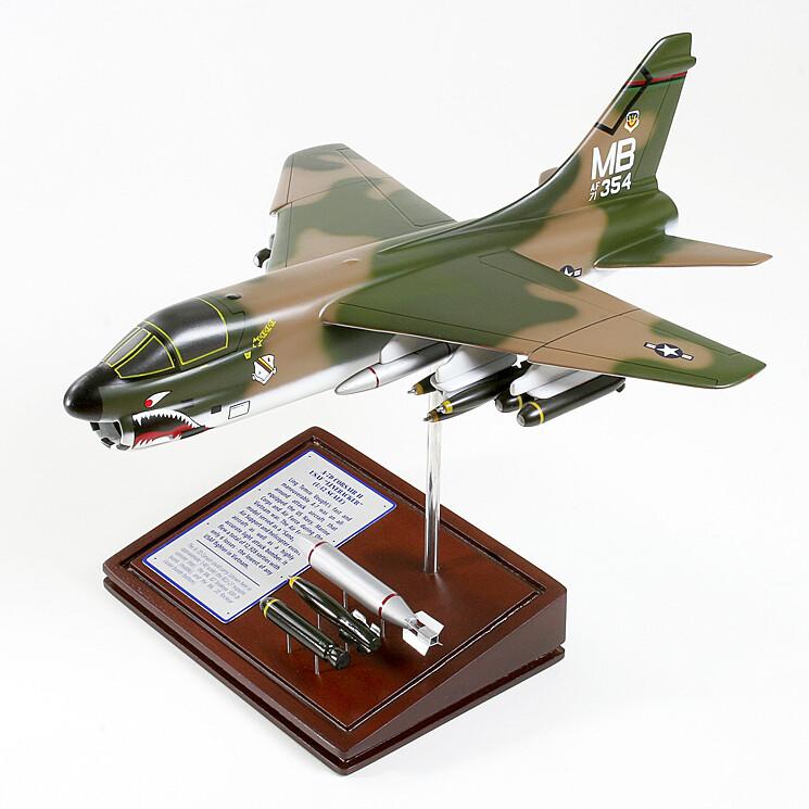 A-7D Corsair II Wood Model Plane