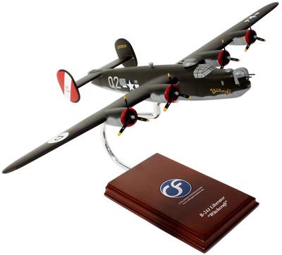 B-24J Libertator (Witchcraft) 1/60 Wood Model Aircraft