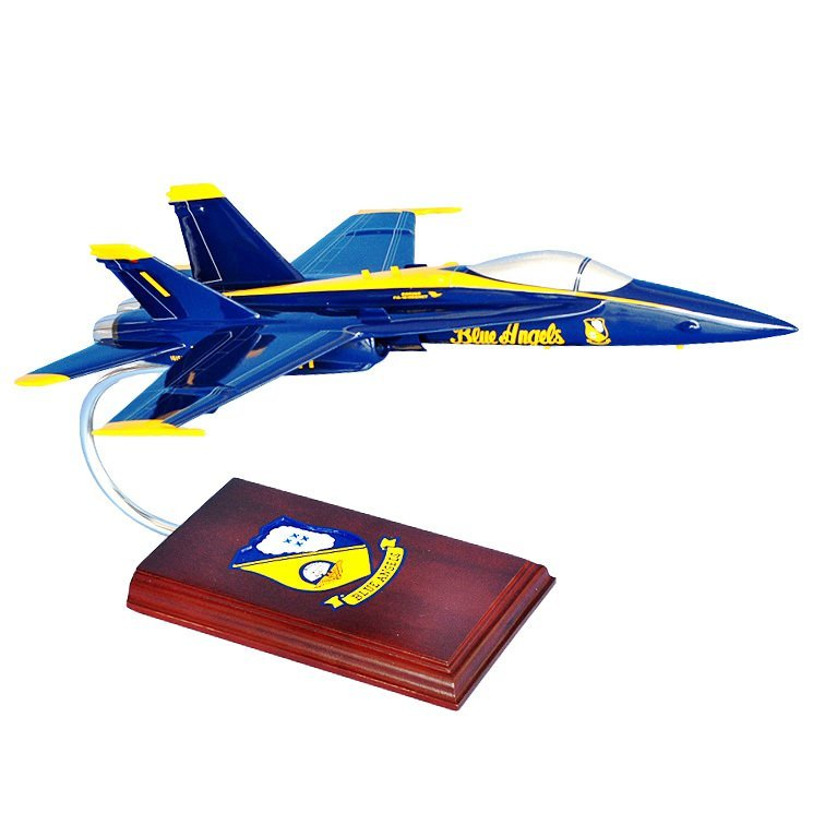 F/A-18A Hornet (Blue Angels) 1/38 Scale Model Aircraft