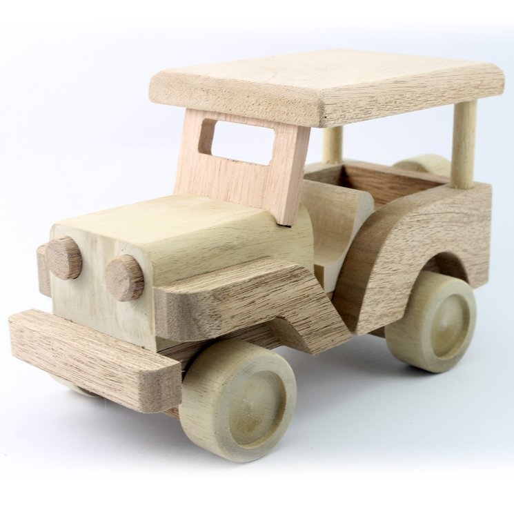 Wooden Toy Jeep 8.75 Inches (Length)