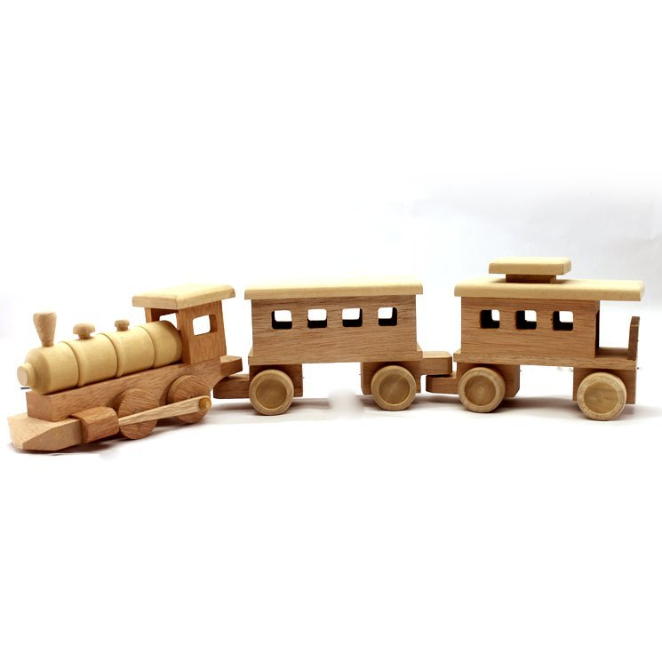 Wooden Toy Train 25.5 Inches (Length)