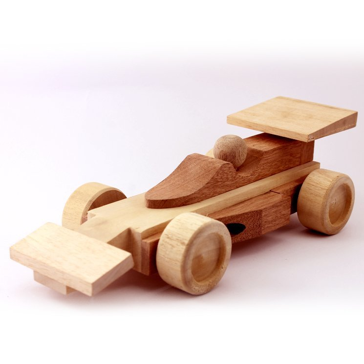 Wooden Toy Race Car 10.5 Inches (Length)