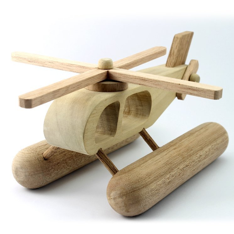 Wooden Toy Helicopter 10.0 Inches (Length)