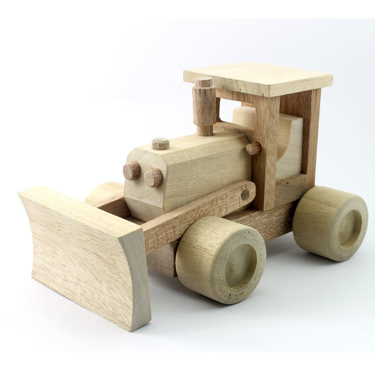 Wooden Model Bulldozer 6.5 Inches (Length)